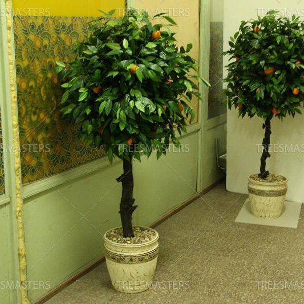 Искусственное дерево: Апельсин шар 1.6м в шамотном горшке