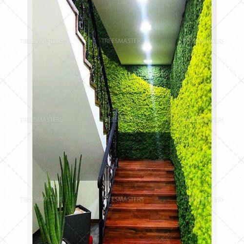 Стабилизированный мох Ягель на лестнице