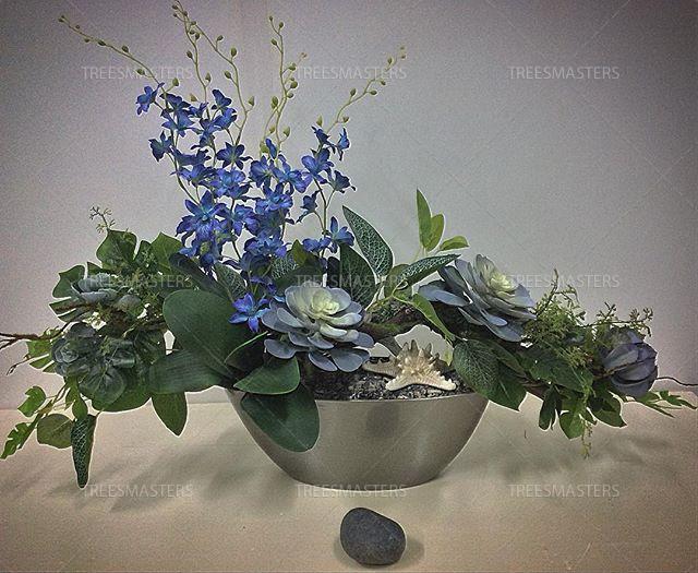 Интерьерная искусственная композиция с листьями искусственного Фикуса