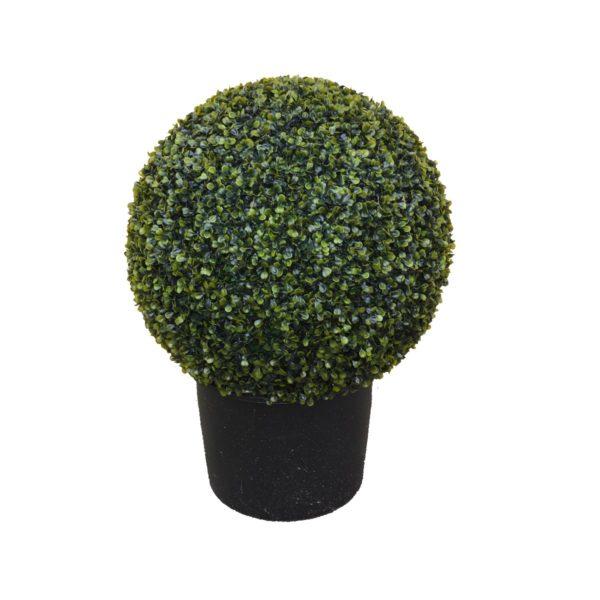 Искусственный самшитовый шар в техническом кашпо, 50-150 см