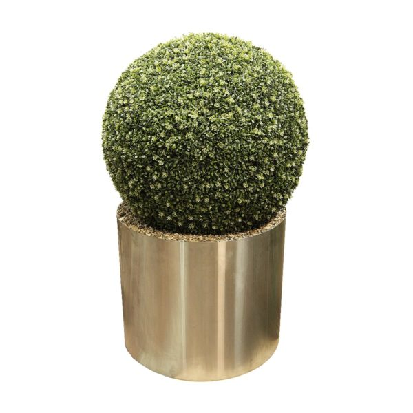 Искусственный шар самшита малого размера в металлическом кашпо, 50-150 см