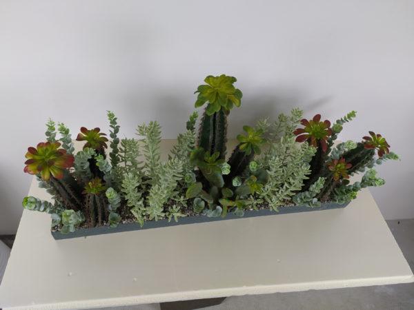 Искусственная композиция: кактусы и суккуленты, 40см