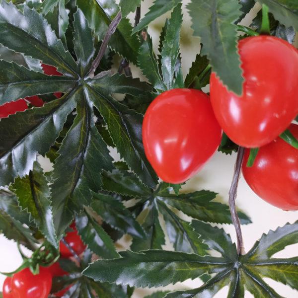 Искусственная ветка томатная, с мелкими помидорами Черри